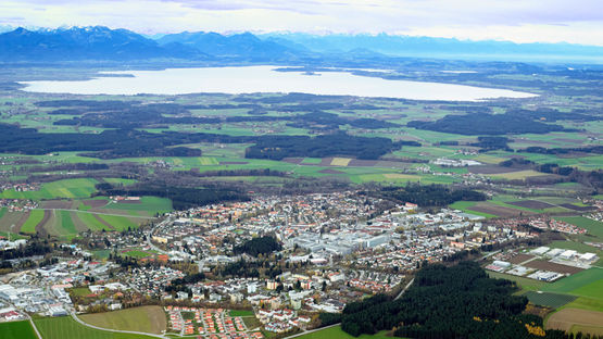 HEIDENHAINs Firmensitz in Traunreut am Chiemsee.